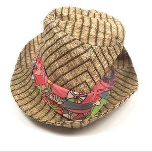 Sakroots Artist Circle Fedora Straw Hat Cap